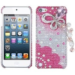 BasAcc Pink Butterfly Chain Case for Apple iPod Touch 5th Generation