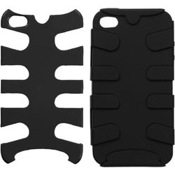 INSTEN Natural Black Fishbone Phone Case Cover for Apple iPhone 4S/ 4