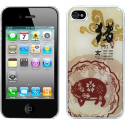 BasAcc Pig Chinese Zodiac Back Case for Apple iPhone 4S/ 4