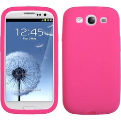 BasAcc Solid Hot Pink Skin Case for Samsung Galaxy S III/ S3 i9300