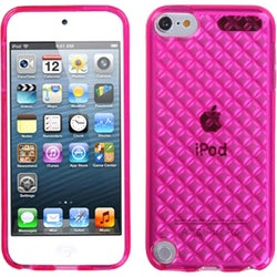 BasAcc Hot Pink/ Diamond Candy Skin Case for Apple iPod touch 5
