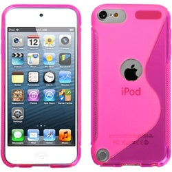 BasAcc Hot Pink/ S-shape Candy Skin Case for Apple iPod touch 5