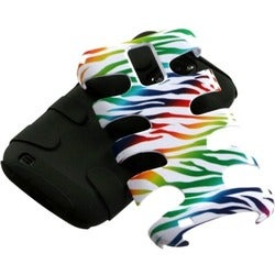 INSTEN Black Colorful Zebra/ Fishbone Phone Case Cover for Samsung T989 Galaxy S2