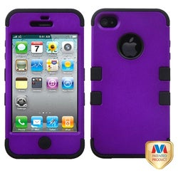 BasAcc Grape/ Black TUFF Hybrid Case for Apple iPhone 4/ 4S
