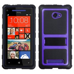BasAcc Purple Gummy Armor Stand Case for HTC Windows Phone 8X