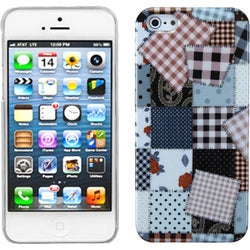 INSTEN Patchwork Cloth Puzzle Phone Case Cover for Apple iPhone 5