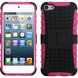 BasAcc Black/ Hot Pink Armor Stand Case for Apple iPod touch 5