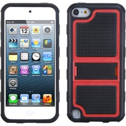 BasAcc Red Gummy Armor Stand for Apple iPod touch 5