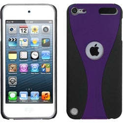 BasAcc Purple/ Black Wave Back Case for Apple iPod touch 5
