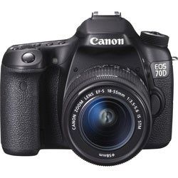 Canon EOS 70D 20.2MP Digital SLR Camera with 18-55mm STM Lens