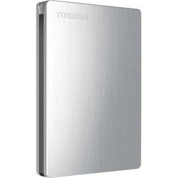 Toshiba Canvio Slim 1 TB External Hard Drive - Portable - Silver