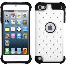 BasAcc White/ Black Lattice Case for Apple iPod Touch 5th Generation