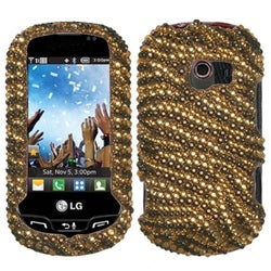 BasAcc Tiger Skin Camel/ Brown Diamante Case for LG VN271 Extravert
