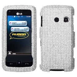 BasAcc Silver Diamond Case for LG Touch LN510 Rumor/ UN510 Banter