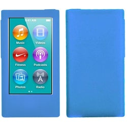 INSTEN Solid Dark Blue Skin iPod Case Cover for Apple iPod Nano