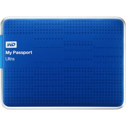 WD My Passport Ultra WDBZFP0010BBL-NESN 1 TB External Hard Drive - Po