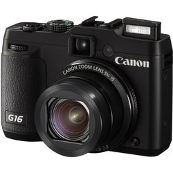 Canon PowerShot G16 12.1MP Black Digital Camera