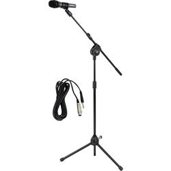Pyle Mic and Tripod Stand with Mic Cable Package