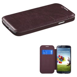 BasAcc Dark Brown Book-Style MyJacket Case for the Samsung Galaxy S4