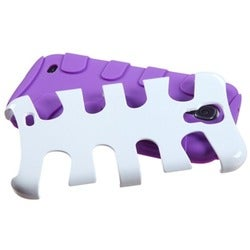 BasAcc Ivory White/ Purple Fishbone Case for Samsung� Galaxy S4/ S IV