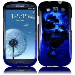BasAcc Blue/ Black Skull Hard Plastic PC Snap-on Phone Case Cover For Samsung Galaxy S3/ S III GT-i9300