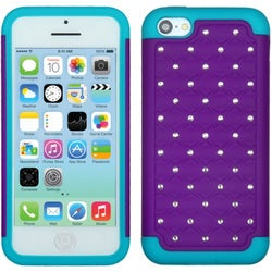 BasAcc Purple/ Teal Luxurious Lattice Case for Apple iPhone 5C