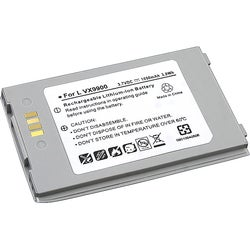 Silver Replacement 3.7V Li-ion Battery for LG EnV VX9900 Phone