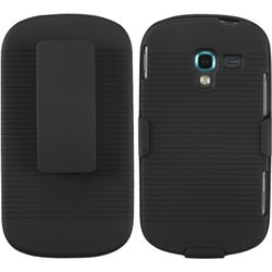 BasAcc Black Hybrid Holster for Samsung T599 Galaxy Exhibit