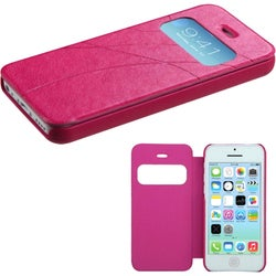 BasAcc Hot Pink Embossed MyJacket Wallet Case for Apple iPhone 5C