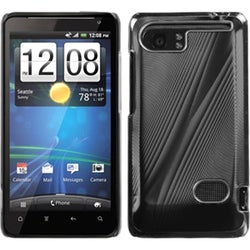INSTEN Black/ Cosmo Phone Case Cover for HTC Vivid