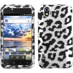 INSTEN Black/ Leopard/ 2D Silver Phone Case Cover for LG LS855 Marquee