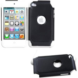 BasAcc Black/ White Dual Layer Hybrid Case for Apple iPod Touch 4/ 4G
