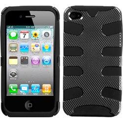 INSTEN Carbon Fiber/ Black Fishbone Phone Case Cover for Apple iPhone 4/ 4S