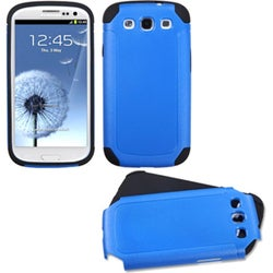 INSTEN Blue/ Black Frosted Fusion Phone Case Cover for Samsung Galaxy S III/ 3