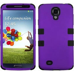 INSTEN Grape/ Black TUFF Phone Case Cover for Samsung Galaxy S4