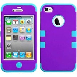 INSTEN Grape/ Tropical Teal TUFF Phone Case Cover for Apple iPhone 4/ 4S