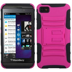 BasAcc Hot Pink/ Black Advanced Armor Stand Case for Blackberry Z10
