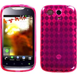 INSTEN Hot Pink Argyle Pane Candy Skin Phone Case Cover for Huawei U8680 myTouch