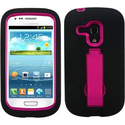 BasAcc Pink/ Black Case with Stand for Samsung G730A Galaxy S3 Mini