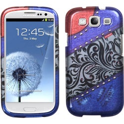 BasAcc Rainbow-Lace-Jean Case for Samsung� Galaxy S III i747/ L710