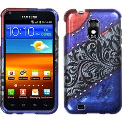 INSTEN Rainbow-Lace-Jean Phone Case Cover with Diamonds for Samsung Epic 4G Touch