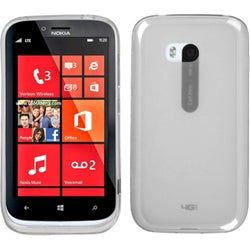 BasAcc Semi-Transparent White Candy Skin Cover for Nokia Lumia 822