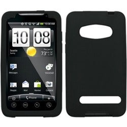 BasAcc Solid Black Skin Case For HTC EVO 4G