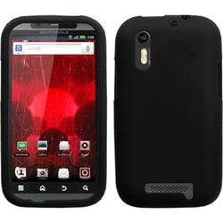 BasAcc Solid Black Skin Case For Motorola XT865