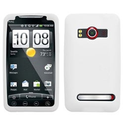 BasAcc Solid White Skin Case For HTC EVO 4G