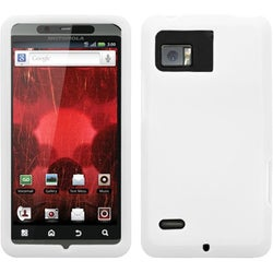 BasAcc Solid White Skin Case For Motorola XT875 Droid Bionic