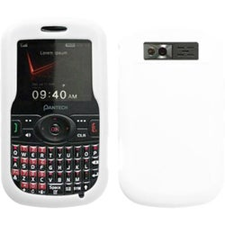 BasAcc Solid Skin White for Pantech TXT8035 Caper