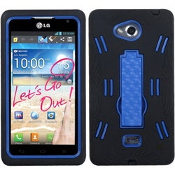 INSTEN Symbiosis Stand Protector Phone Case Cover for LG MS870 Spirit 4G