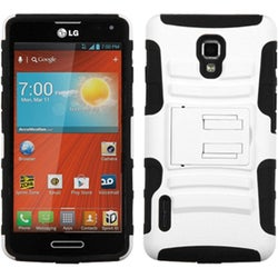 BasAcc White/ Black Case with Stand for LG US780 Optimus F7