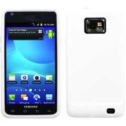 BasAcc White Solid Skin Case for Samsung I777 Galaxy S II